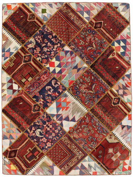 Patchwork Persian Rug Nmdp0012 1228
